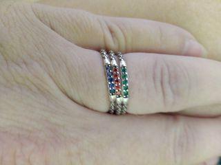 set 3 anillos ajustables