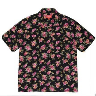 Floral Rayon S/S Shirt Style: Black
