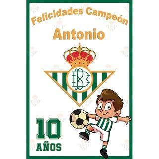 Pancarta Cumpleaños Real Betis Balompié
