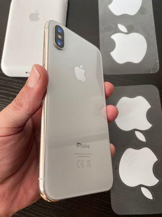 iPhone X 64gb Silver, 100% de batería