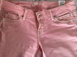 Tejano Pepe Jeans rosa pitillo