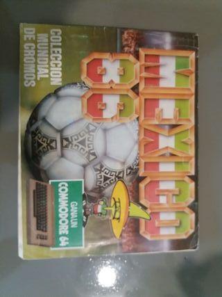 álbum futbol México 86 incompleto 50%