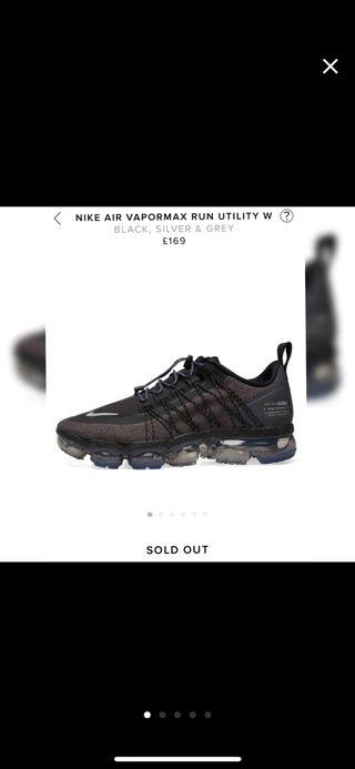 Nike air vapormax run utility trainers