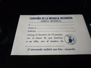 ANTIGUO SOBRE CAMPAÑA DE LA INFANCIA MISIONERA