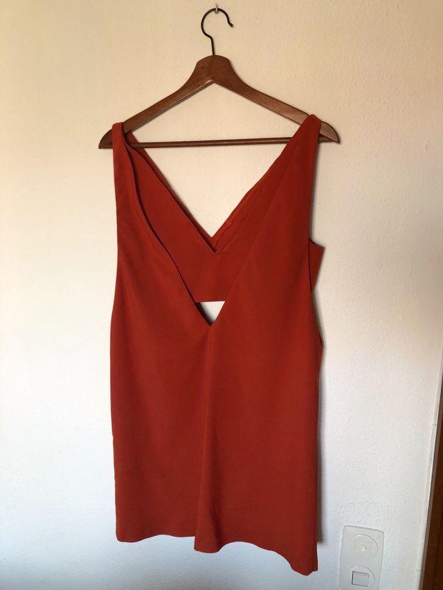 Vestido teja Zara