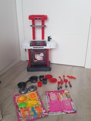 Cocina juguete cocinita con luz y sonido