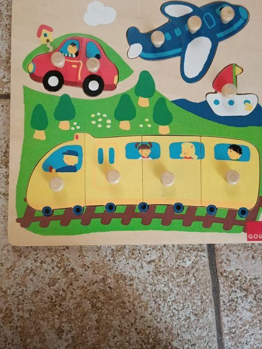 puzzle madera goula niños niñas