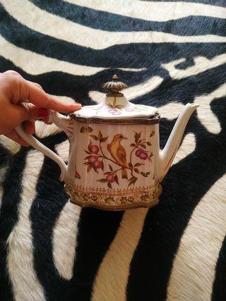 tetera porcelana antigual