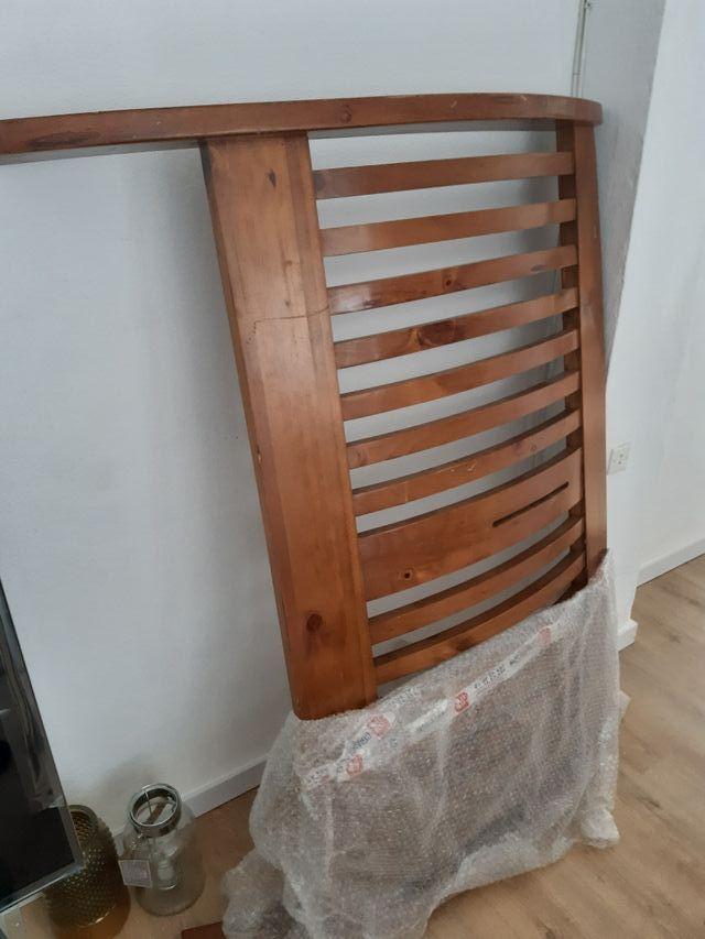 cabecero de cama curvo de roble 145×118