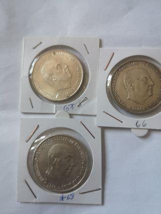 lote 100 pesetas 1966 plata E 66 67 68