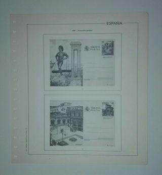 Hojas sellos enteros postales España 1974/1987