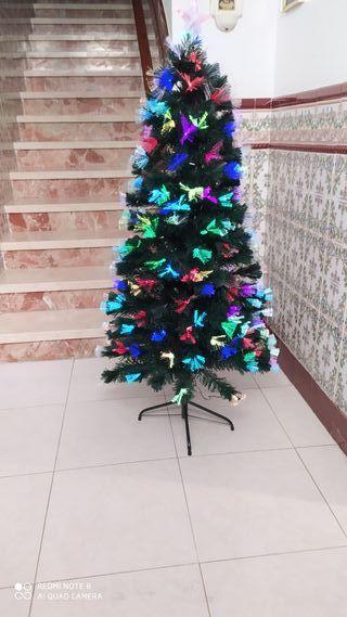 Árbol de navidad de fibra óptica 150cm