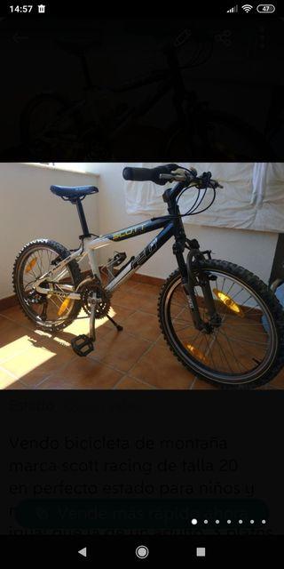 bici mtb scott racing 20 pulgadas
