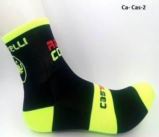 Calcetin ciclismo o Running Castelli fluor