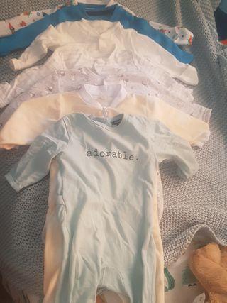 lote pijamas bebé 0-3 meses