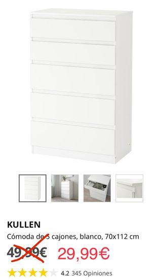 Cómoda KULLEN Ikea