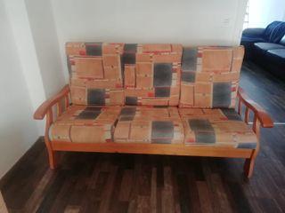 Sofa madera de pino maciza