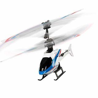 Helicóptero radio control azul
