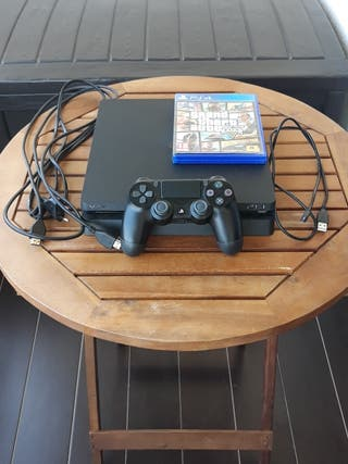 PS4 SLIM + 1 Mando + GTA 5