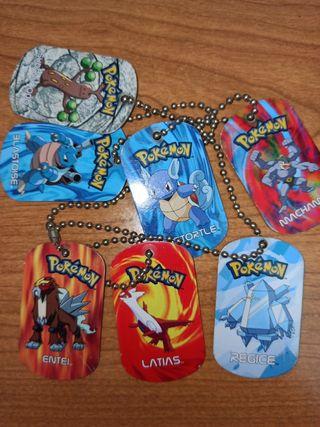 chapas Pokemon metal lote
