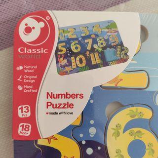 Puzzle madera números Nuevo
