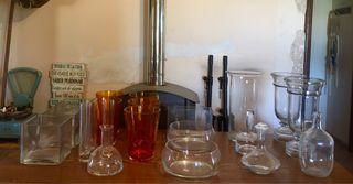 Jarrones,platos y bandejas de vidrio (OCASION)