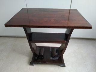 Mesita Auxiliar de madera antigua con carcoma