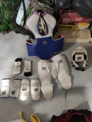 protecciones taekwondo niño