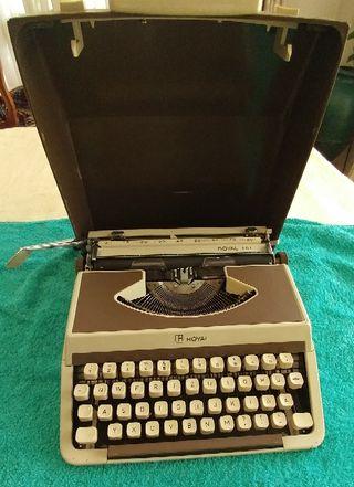Vintage antigua Máquina de escribir Royal 201