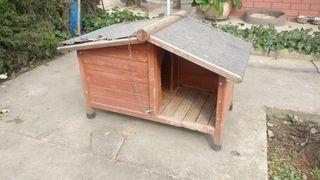 Caseta madera perros raza pequeña