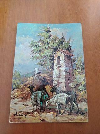 postal antigua de Francia