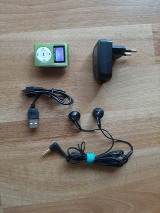 Lector Reproductor MP3 Player Verde Aluminio NUEVO