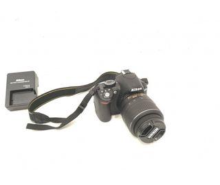 Camara Reflex Nikon 3100 Con Objetivo 18-55 Vr