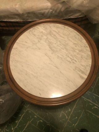 Mesita baja salón mármol