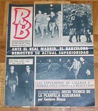 LOTE 4 PERIODICOS RB REVISTA BARCELONISTA BARÇA