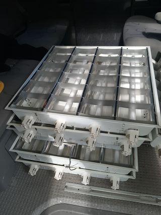 lamparas 60x60 con tubos