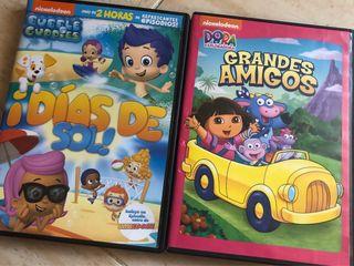 Dvd's Dora La Exploradora y Bubble Guppies