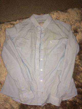 Blue & white stripe women's jack wills shirt
