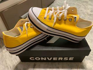 Converse plataforma amarillas