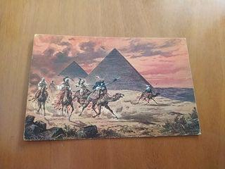 postal antigua de el Cairo