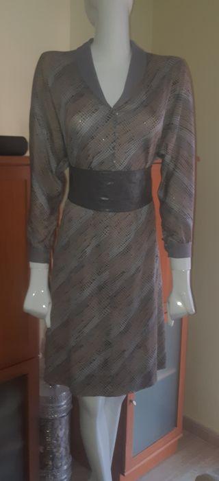 40/42 vestido retro + cinturón chica