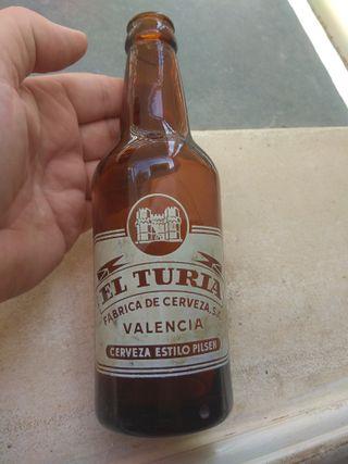 Botella Cerveza El Turia