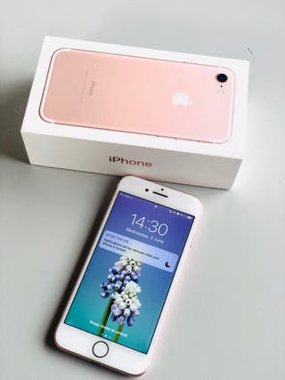IPHONE 7 ROSA 32gb +accesorios,fundas,protector