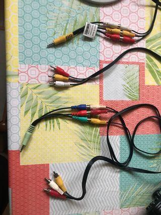 Cables RCA con adaptador