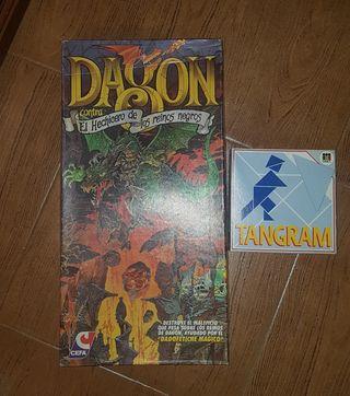 Juegos de mesa Tangram y Dragón