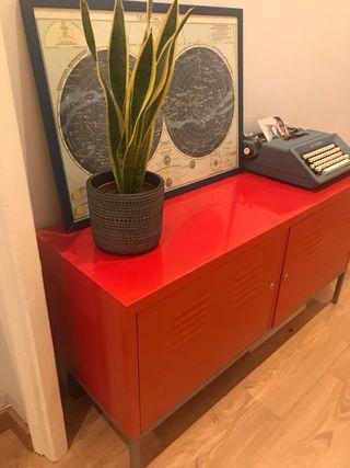 Mueble IKEA ROJO/Mueble TV/Taquilla