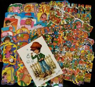 Lote 33 láminas cromos troquelados + una postal