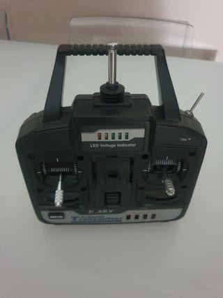 Helipcotero teledirigido, mando universal,antena