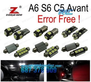 KIT COMPLETO DE 24 BOMBILLAS LED INTERIOR A6 S6 C5