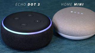 echo dot y Google home mini